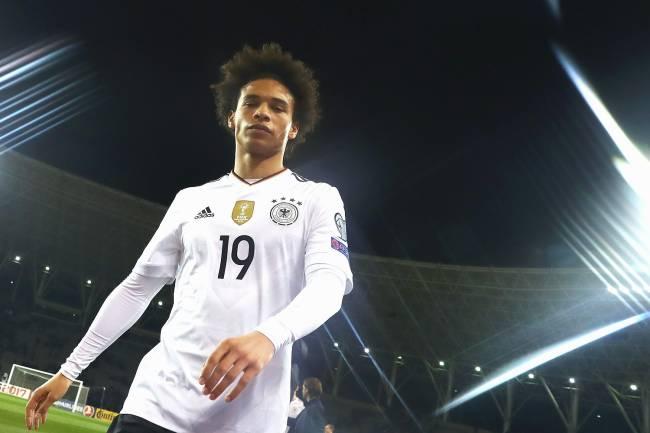 O jogador da Alemanha Leroy Sané