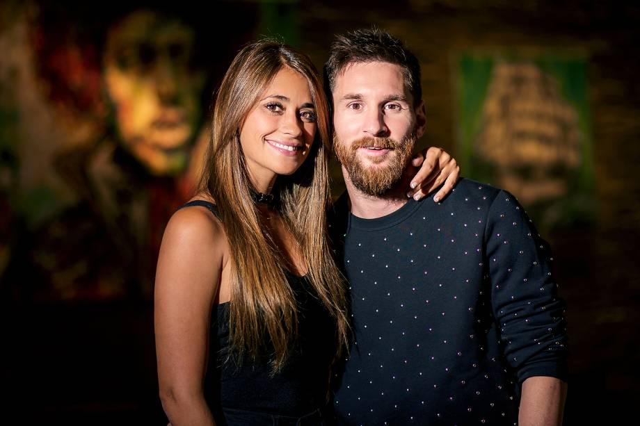 Foto divulgada nesta sexta-feira, antes dos preparativos para o casamento de Lionel Messi, 30 anos, e Antonella Roccuzzo, 29 anos, em Rosário, Argentina