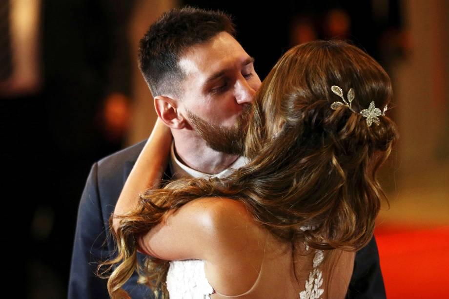 Casamento de Lionel Messi, 30 anos, e Antonella Roccuzzo, 29 anos, em Rosário, Argentina - 30/06/2017