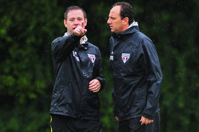 Treino do São Paulo FC – Rogério Ceni e Michael Beale
