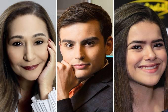 Sonia Abrão, Maisa Silva e Dudu Camargo