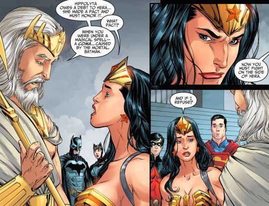 Zeus convoca Diana a lutar ao lado de sua mulher, Hera