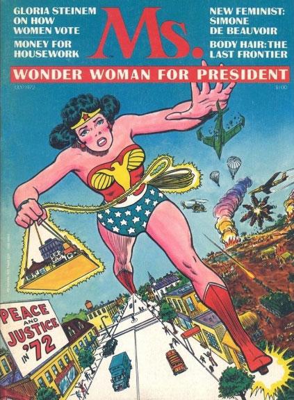 Mulher-Maravilha na capa da revista feminista 'Ms.'