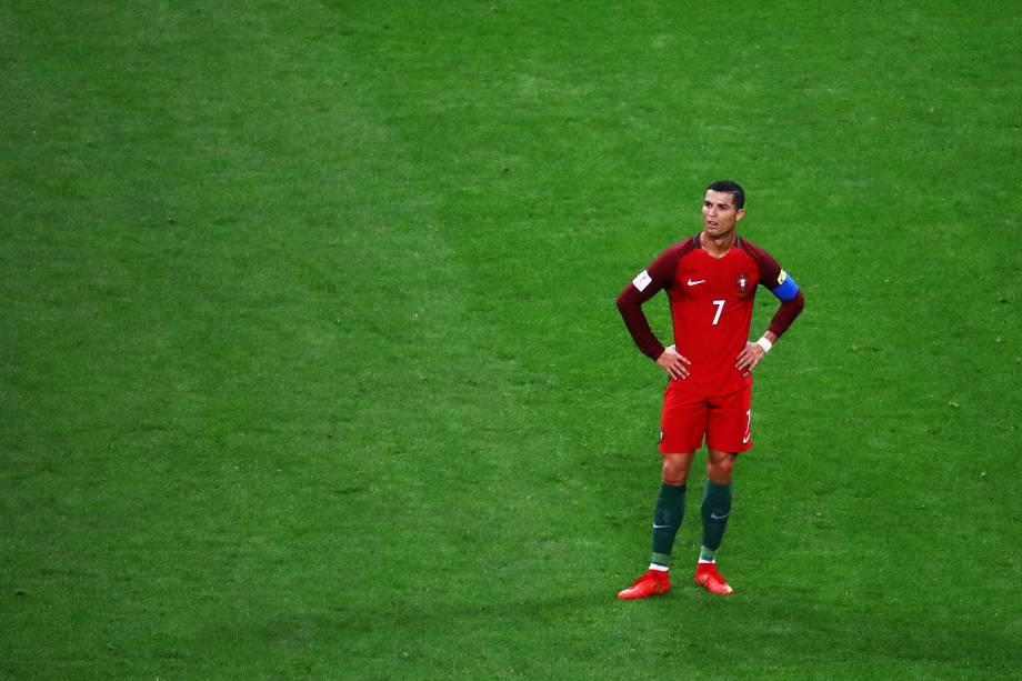 Cristiano Ronaldo durante partida entre Portugal e Chile válida pelas semifinais da Copa das Confederações 2017, realizada no Estádio da Arena Kazan, na cidade de Kazan, na Rússia - 28/06/2017