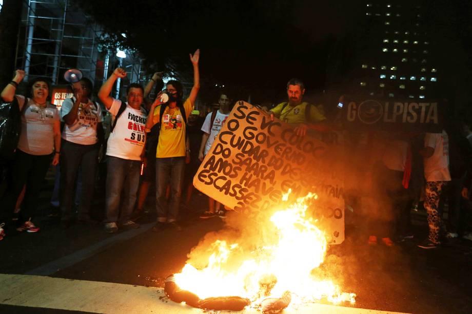 Manifestação no Centro do Rio de Janeiro contra o Governo de Michel Temer - 30/06/2017