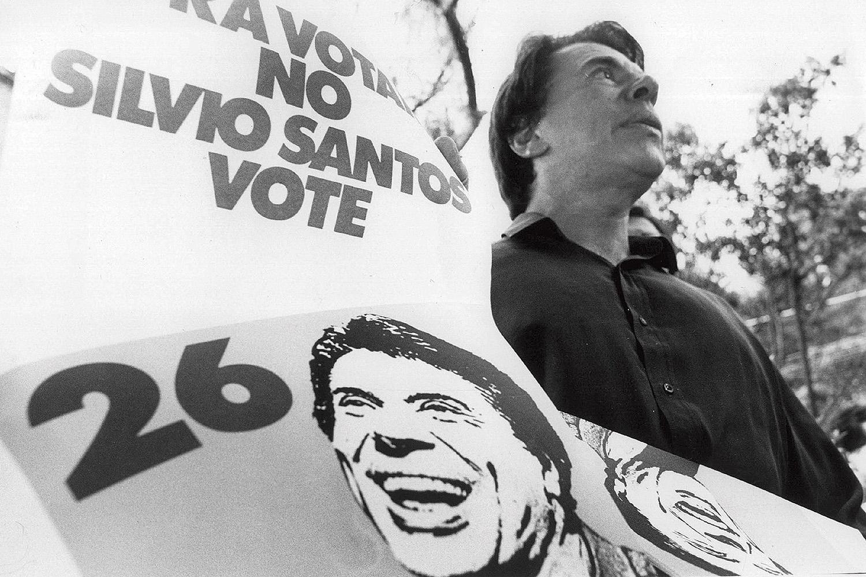 Silvio Santos, candidato do PMB ˆ