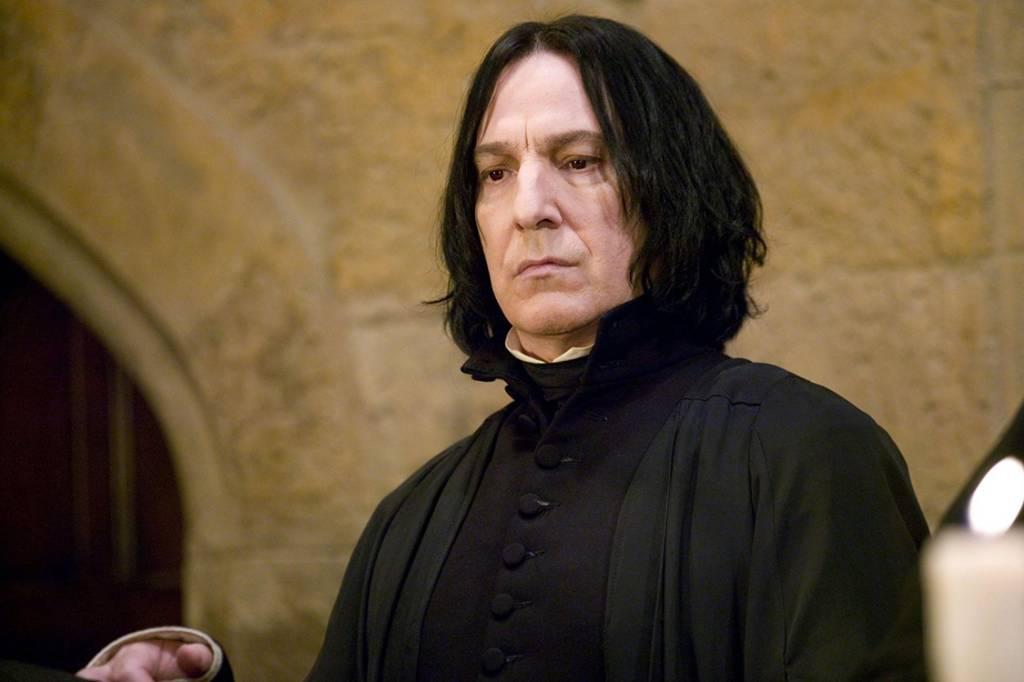 Alan Rickman, o Snape, estava infeliz com personagem em 'Harry ...