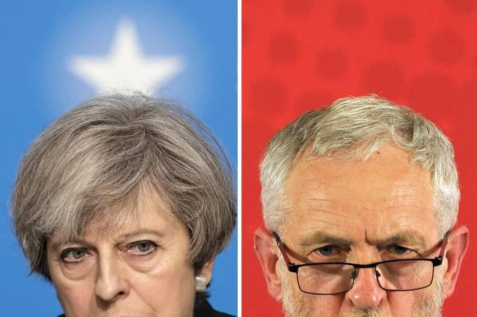 Theresa may e Jeremy Corbyn
