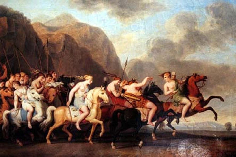 Representação das amazonas clássicas, presentes na mitologia, em 'Ilíada', de Homero, e em 'História', de Heródoto