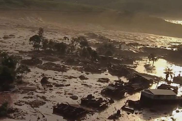 Barreira da mineradora Samarco se rompeu no distrito de Bento Rodrigues, em Minas Gerais