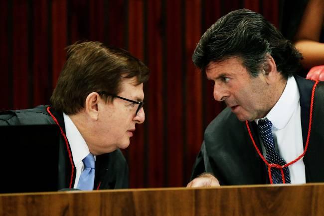 O relator Herman Benjamin e o ministro Luiz Fux