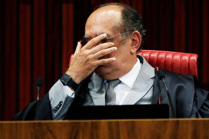 O presidente do TSE e ministro Gilmar Mendes