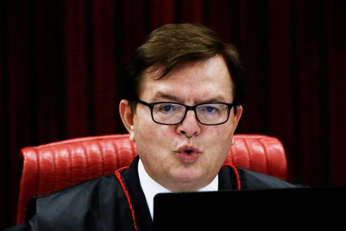 O relator Herman Benjamin, na sessão que pode cassar a chapa Dilma-Temer