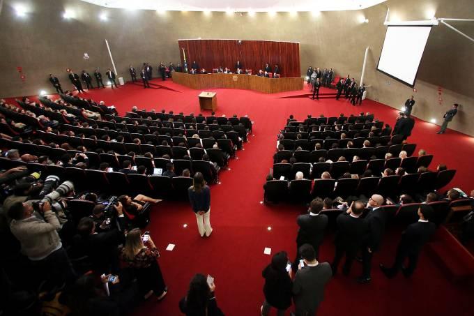 Vista do plenário do Tribunal Superior Eleitoral (TSE)