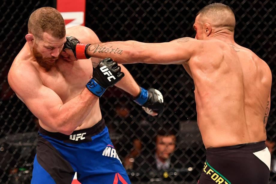 O brasileiro Vitor Belfort durante o UFC 212, realizado na Jeunesse Arena, em Jacarepaguá, na zona oeste da cidade - 04/06/2017