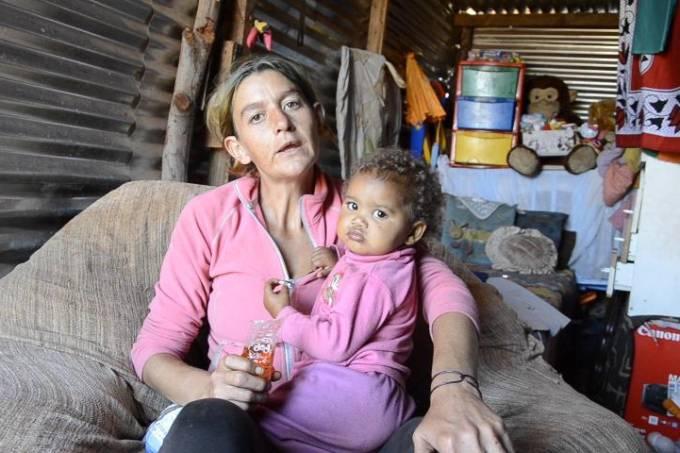 Brancos sul-africanos na miséria