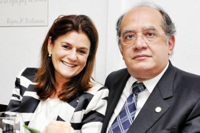 Gilmar Mendes e esposa, Guiomar Feitosa Mendes