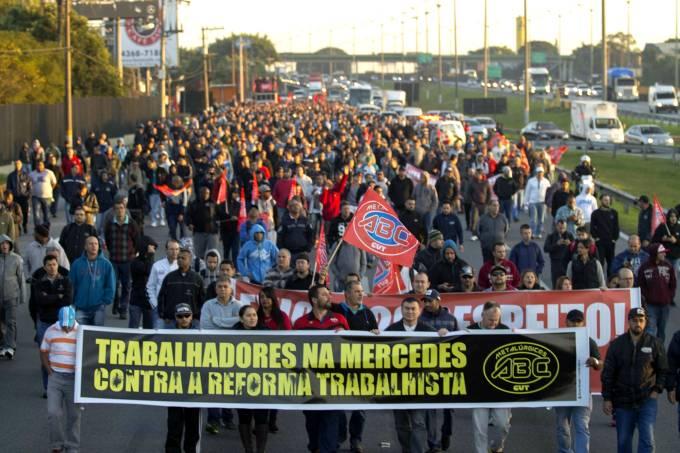 Protesto contra a reforma trabalhista – Anchieta