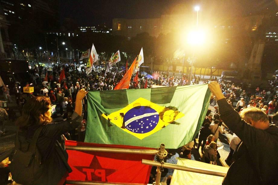 Protesto em defesa dos ex presidentes Luiz Inácio Lula da Silva e Dilma Rousseff e contra o presidente Michel Temer, no centro do Rio de Janeiro (RJ) - 20/07/2017