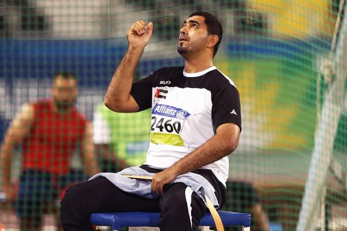 O atleta Abdullah Hayayei, dos Emirados Árabes Unidos,