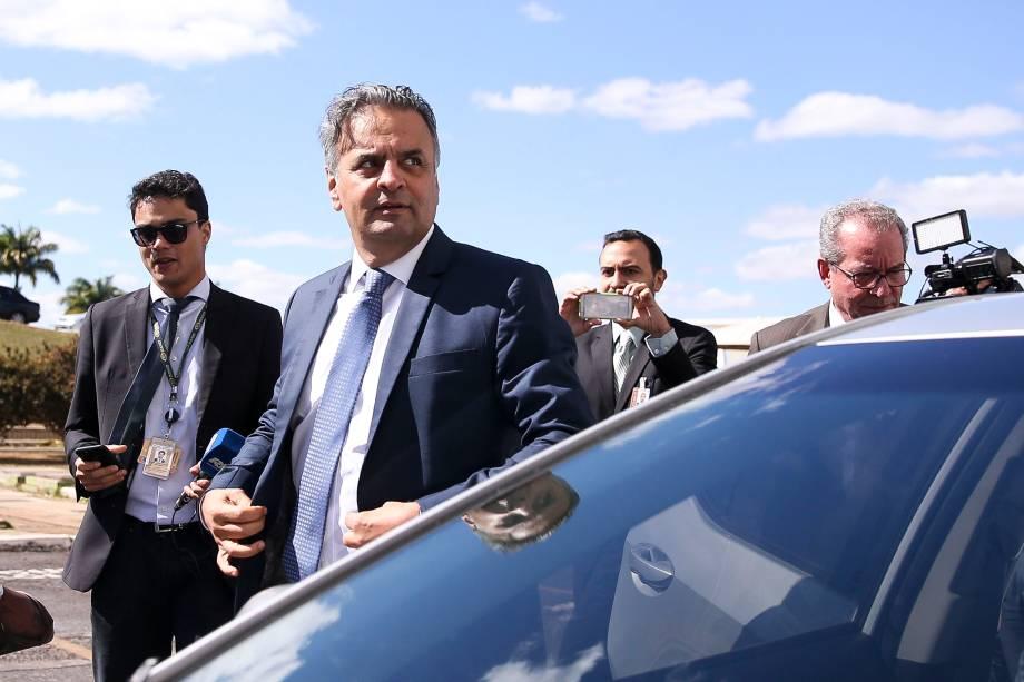 Senador Aécio Neves retoma as atividades parlamentares no Senado após afastamento de 46 dias - 04/07/2017