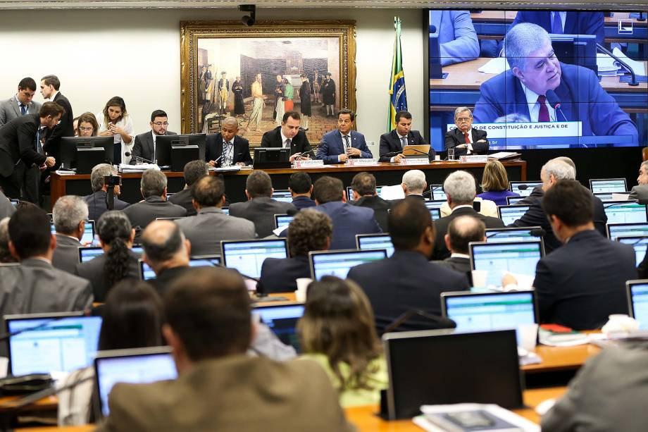 CCJ (Comissão de Constituição e Justiça) começa a discutir a denúncia da Procuradoria-Geral da República segundo a qual o presidente Michel Temer cometeu crime de corrupção passiva no exercício do cargo, em Brasília - 12/06/2017