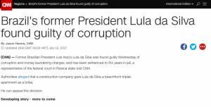 Cobertura da CNN sobre a condenação de Lula