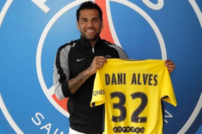Daniel Alves no Paris Saint-Germain