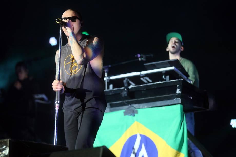 Chester Bennington - Show da banda Linkin Park no Maximus Festival 2017, realizado no Autódromo de Interlagos, na zona sul de São Paulo - 13/05/201