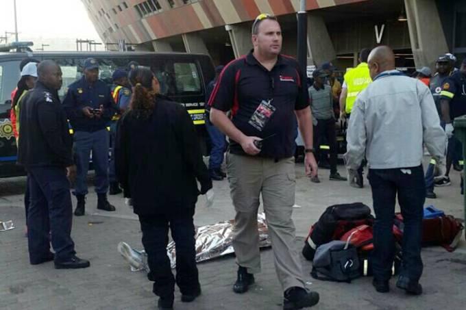 Tumulto em estádio da Copa na África do Sul
