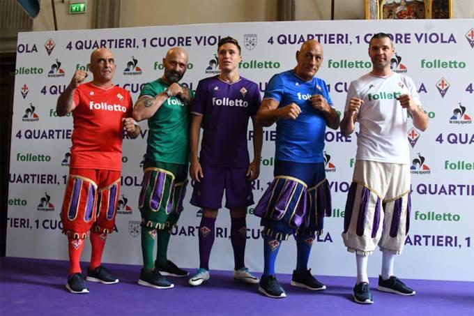 Novos uniformes Fiorentina
