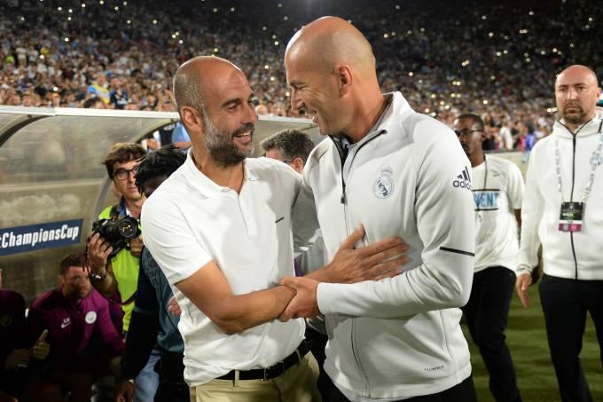 Pep Guardiola e Zinedine Zidane