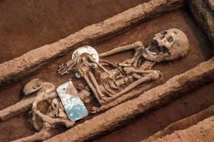 Esqueletos humanos gigantes encontrados na China