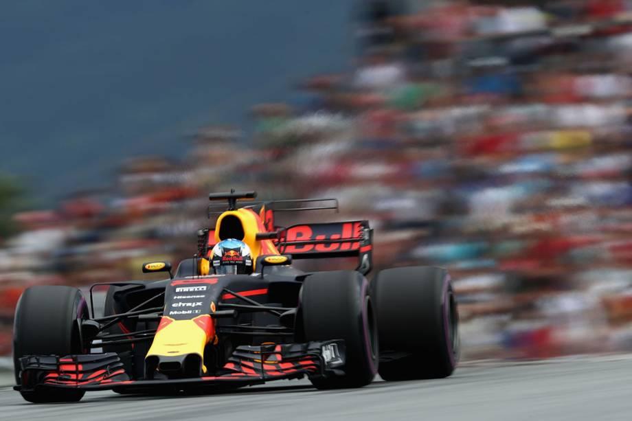 Daniel Ricciardo, da Red Bull Racing, durante o GP da Áustria