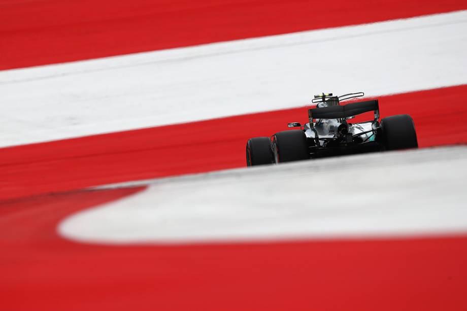 Valtteri Bottas, da Mercedes, durante o GP da Áustria