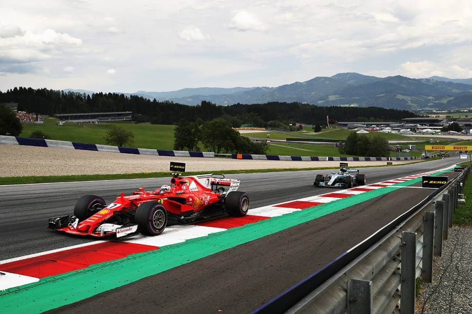 Kimi Raikkonen, da Ferrari, durante o GP da Áustria