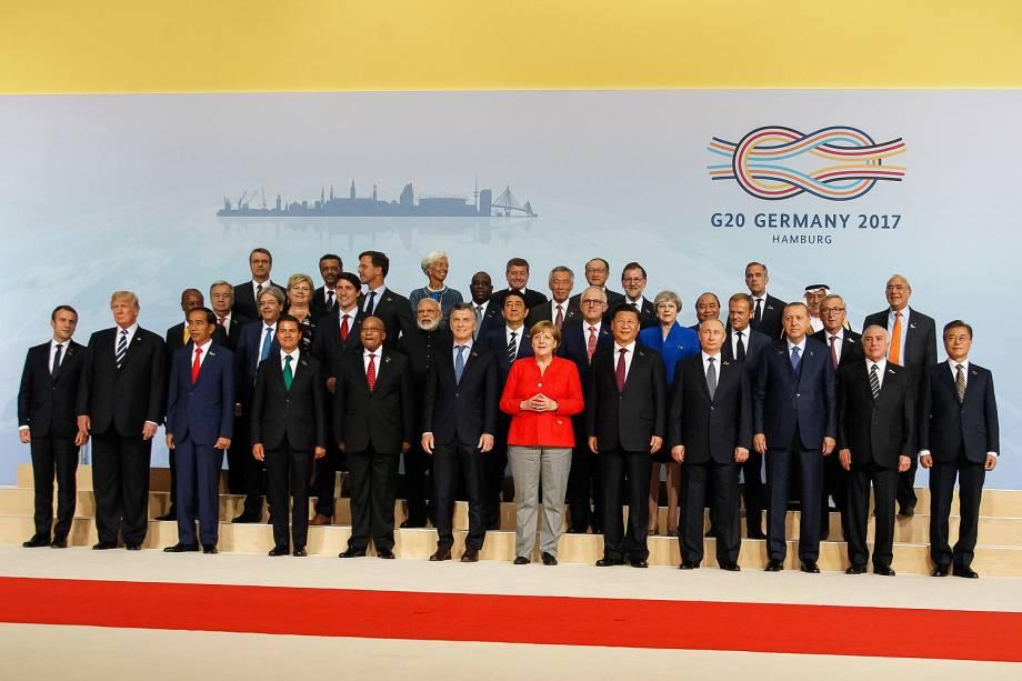 Líderes das principais potências mundiais se reúnem para conferência do G20 em Hamburgo, na Alemanha - 07/07/2017