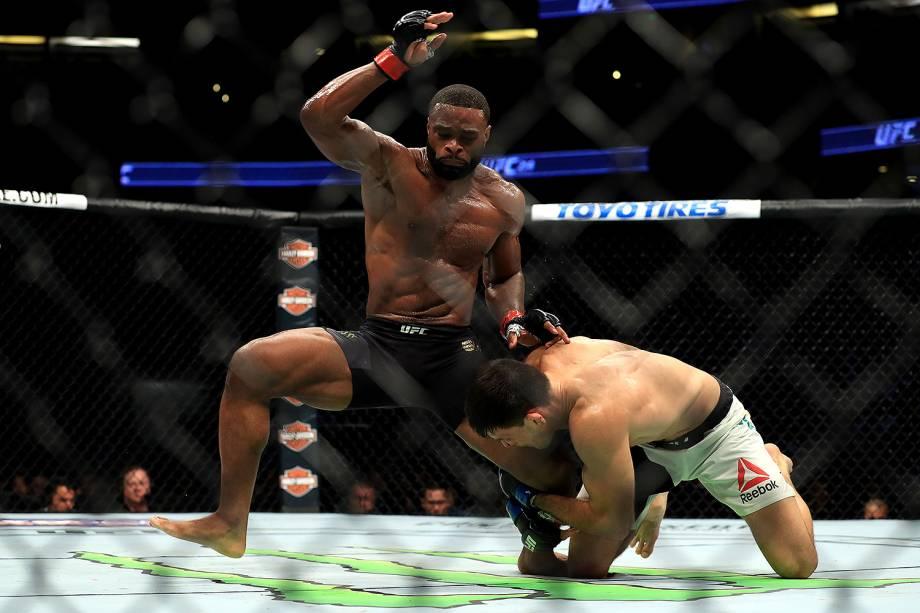 Tyron Woodley vence o brasileiro Demian Maia no UFC 214 em Anaheim (EUA) - 29/07/2017