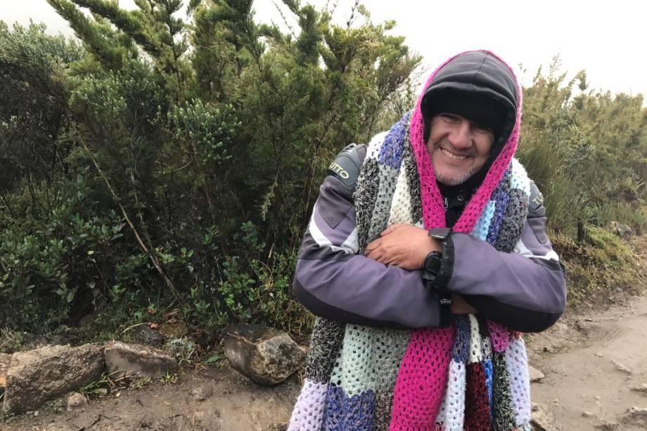 Mineiro de Itajubá, Israel Augusto foi ao parque pela primeira vez na expectativa de ver neve.