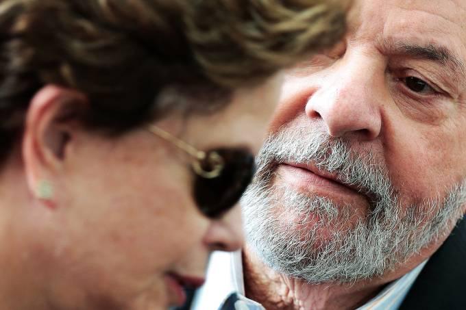 Os ex-presidentes Luiz Inácio Lula da Silva e Dilma Rousseff