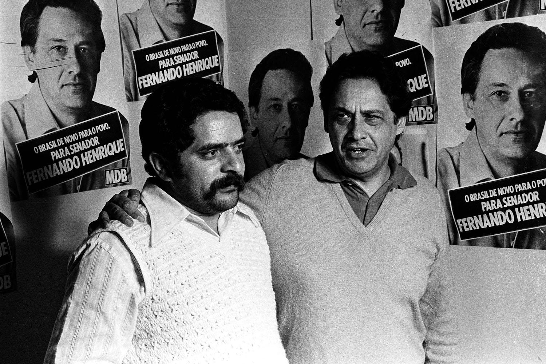 Fernando Henrique Cardoso e Lula - 21-08-1978