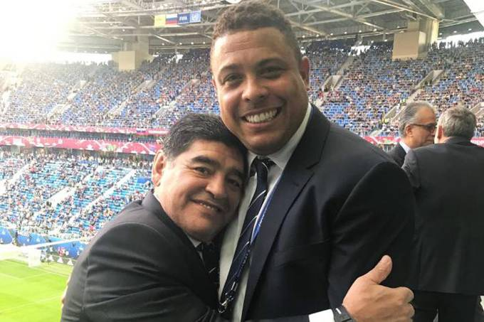 O ex-jogador Ronaldo fenômeno