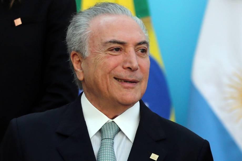 O presidente da República, Michel Temer (PMDB), durante a 50ª Cúpula do Mercosul em Mendoza, na Argentina, em que o Brasil assumirá a presidência rotativa do bloco - 21/07/2017