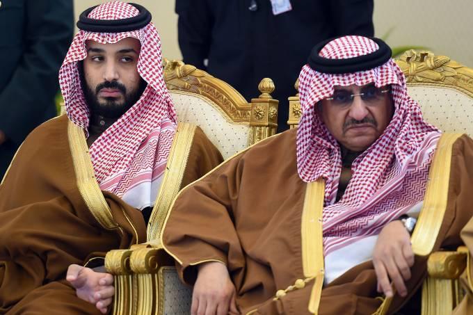 Mohammed bin Nayef e o príncipe herdeiro da Arábia Saudita Mohammad bin Salman – 09/12/2015