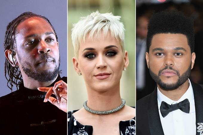 Kendrick Lamar, Katy Perry e The Weeknd