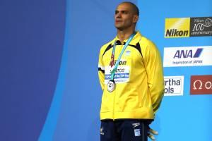 Nicholas Santos é prata nos 50m borboleta no Mundial de Esportes Aquáticos de Budapeste, na Hungria - 24/07/2017