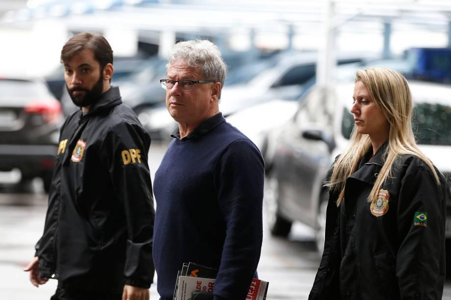 Jacob Barata Filho, empresário do setor de transportes, preso durante a Operação Ponto Final, chega à sede da Polícia Federal no Rio de Janeiro (RJ) - 03/07/2017