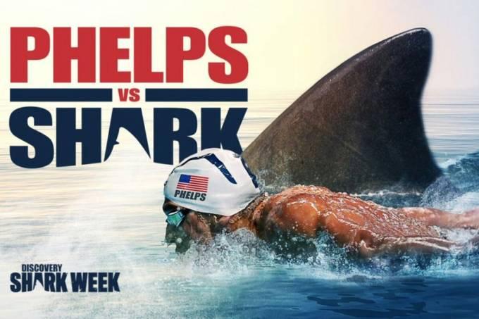 Michael Phelps e tubarão