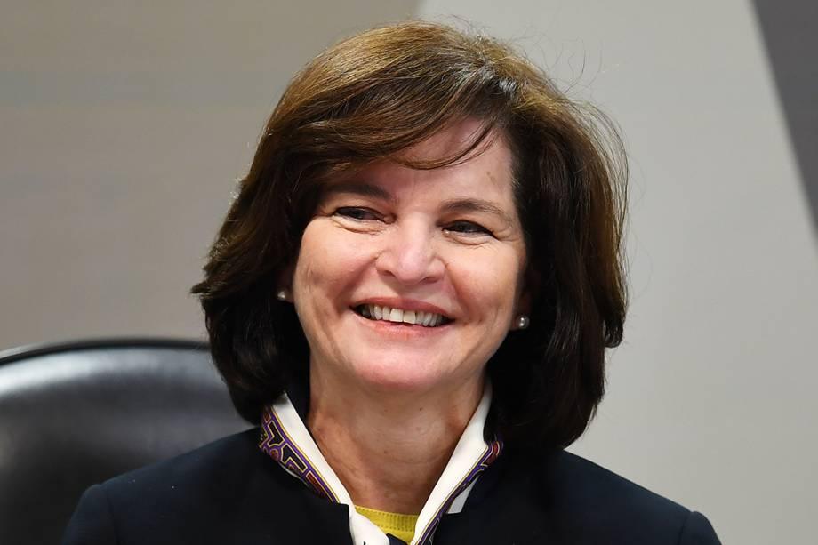 Raquel Dodge, Procuradora-Geral da República indicada pelo Presidente Michel Temer, durante comissão da CCJ em Brasília - 12/07/2017