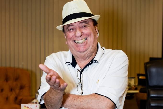 O apresentador Raul Gil concede entrevista para a VEJA